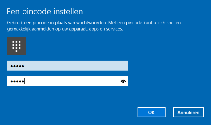 Windows 10 pincode