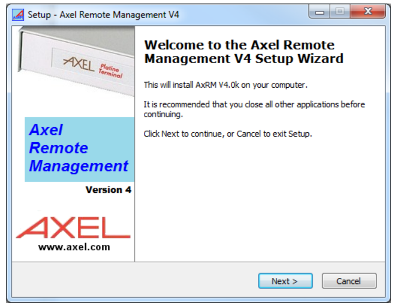 Setup Axrm management tool
