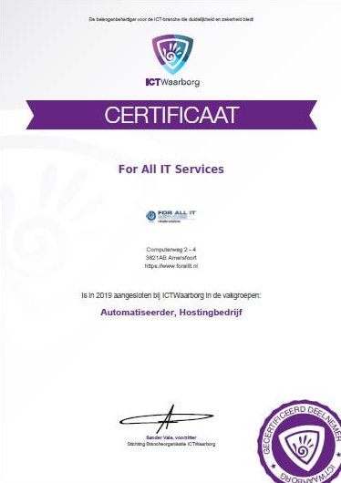 ICT Waarborg & For All IT Services